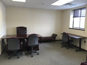 Office set up and furniture. Furniture donated by Chyten Educational Services in Millis.